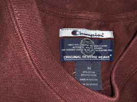 Champion Reverse Weave Sweatshirt Harvard Men's Size M Burgundy L/S Exc Cond image 4