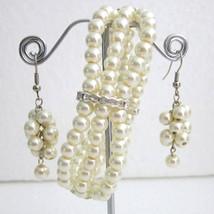 Ivory pearl Bracelet,Ivory wedding bracelet,Glass Pearl Bracelet, Weddin... - $18.00