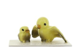 Hagen Renaker Miniature Canary Ma and Chick Ceramic Bird Figurine Set of 2