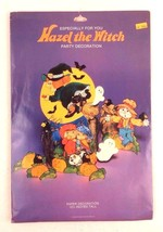 Vtg American Greetings Hazel Witch Party Decoration Chipboard Kids Scare... - €16,95 EUR