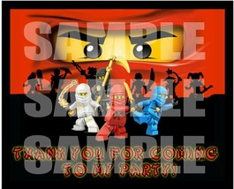 NINJAGO BOY Stickers Party Favors Supplies Gift Bag Labels STICKERS ONLY... - $12.82