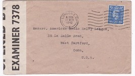 WORLD WAR II EXAMINED MAIL LONDON ENGLAND TO CONNECTICUT MARCH 17 1942 - $3.98