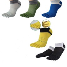 2 Pair Men's CottonToe Socks Sports FivePure Finger Breathable Mixed Col... - $6.81