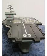 GI Joe USS Saratoga Aircraft Carrier Hasbro Navy Military Working 2001 M... - $59.39