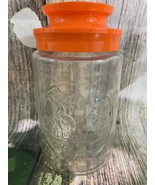 Vintage Anchor Hocking Maxwell House Lighthouse Glass Jar With Orange Lid - $6.44
