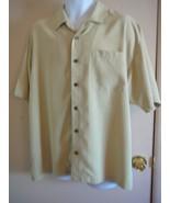 Men's Hawaiian Shirt Size XL Tommy Bahama Yellow Short Sleeve  - $19.80
