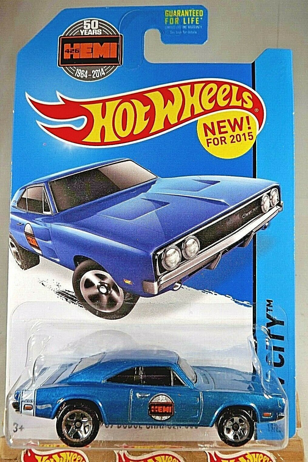 Primary image for 2015 Hot Wheels ##19 HW City-HW Perforance '69 Dodge Charger 500 Blue Variation