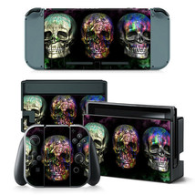 For Nintendo Switch Skull Heads Console & Joy-Con Controller Vinyl Skin Decal  - $11.85