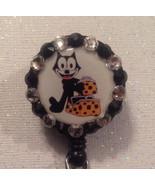 Felix The Cat Badge Reel Id Holder Swarovski Crystals Alligator Clip Han... - $10.99