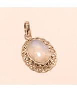 Sri Lankan Moonstone Sterling Silver Pendant Tribal Old Jewelry Thankgiv... - $16.88