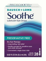 Bausch  Lomb Soothe Lubricant Eye Drops, 28-Count Single Use Dispensers ... - $25.31