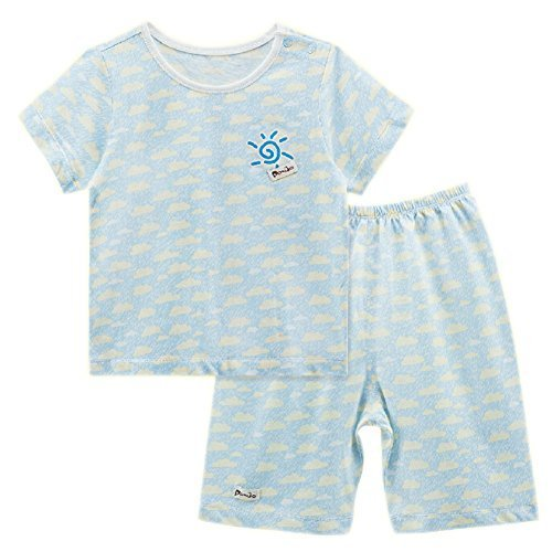 BLUE Clouds Infant Short Slevees&Shorts 2 Pieces Baby Toddler Underwear Set 6-9M