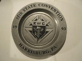 2#A    Vintage WILTON 95th State Convention K of C  Armetale Plate 1993 - $13.83