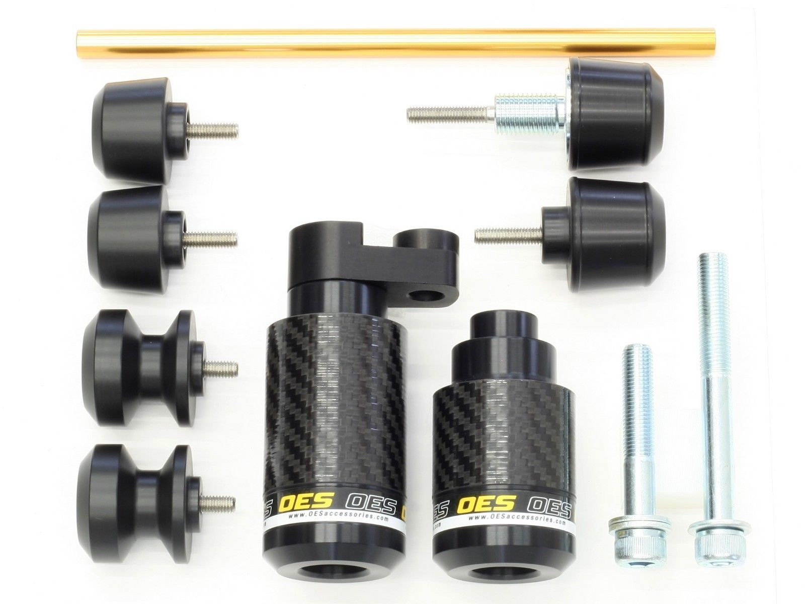 OES Carbon Frame Sliders Bar Ends Spools Fork Sliders 08-16 YZF R6