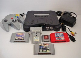 Nintendo 64 Grey Console with Games Lamborghini NASCAR 2000 Supercross R... - $74.99