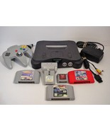Nintendo 64 Grey Console with Games Lamborghini NASCAR 2000 Supercross R... - $74.99