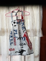 Child Soccer Themed Apron w/Pockets Canvas - Child Small (2T - 4T)  - $12.99