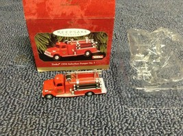 1999 Hallmark Christmas Keepsake Tonka 1956 Suburban Pumper NO 5 Fire Truck - $4.75