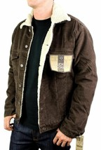 NEW LEVI'S MEN'S CLASSIC CORDUROY BROWN FUR TRUCKER JACKET 705200018 SIZE S