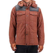 Men's Heavyweight Water And Wind Resistant Removable Hood Insulated Jacket image 12