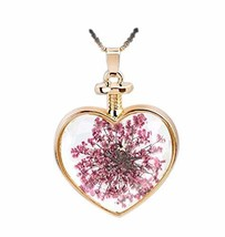 2 Pieces Of Nice Small Purple Flower Specimens Pendant For Heart-Shaped Necklace