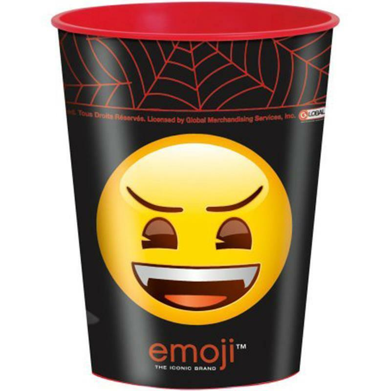 Emoji Halloween Smiley Face 16 oz Keepsake Stadium Cup 1 Per Pkg Party Supplies