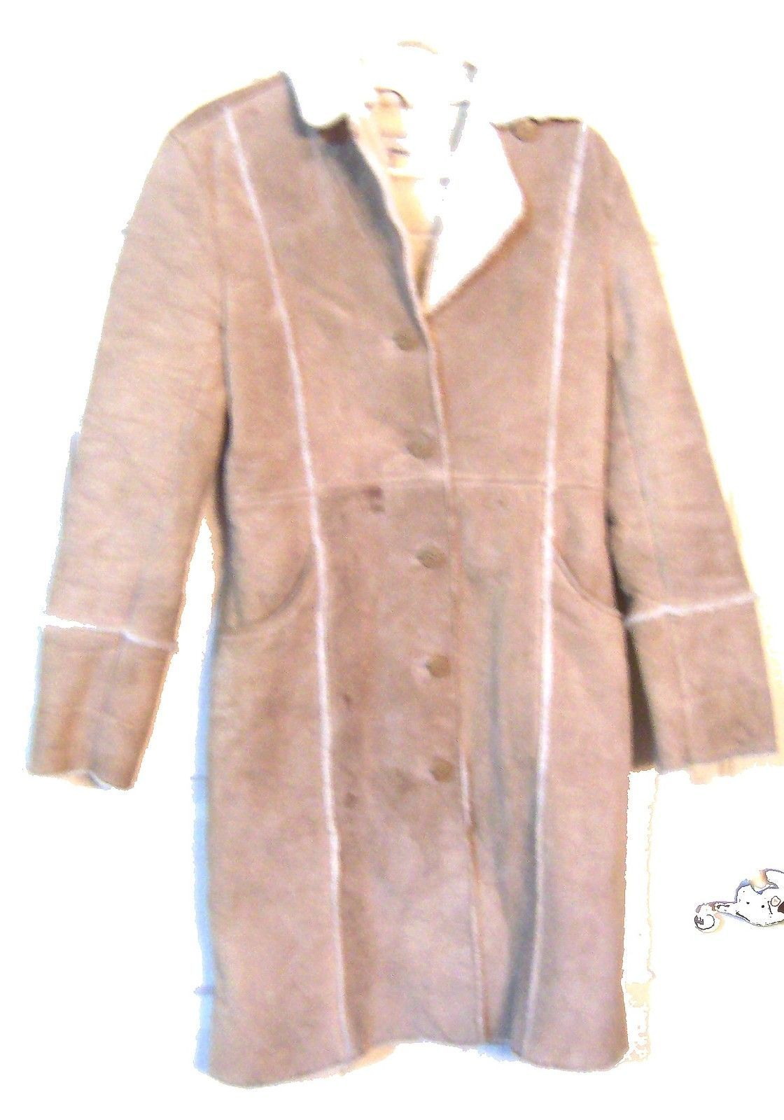 9c697567c28 Hennes Beige Genuine Suede Leather Coat with and 50 similar items