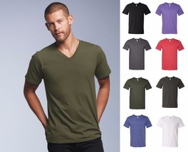 Anvil Men's Preshrunk Cotton 4.5oz V-Neck T-shirt Tee-8 Colors-982 Small-3XL New - $5.76+
