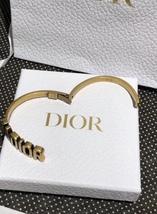 AUTH Christian Dior 2019 J'ADIOR AGED GOLD BRACELET CUFF BANGLE image 10