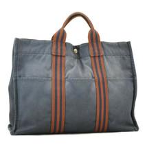 HERMES Canvas Fourre Tout MM Hand Bag Navy Auth ar1525 - $99.00