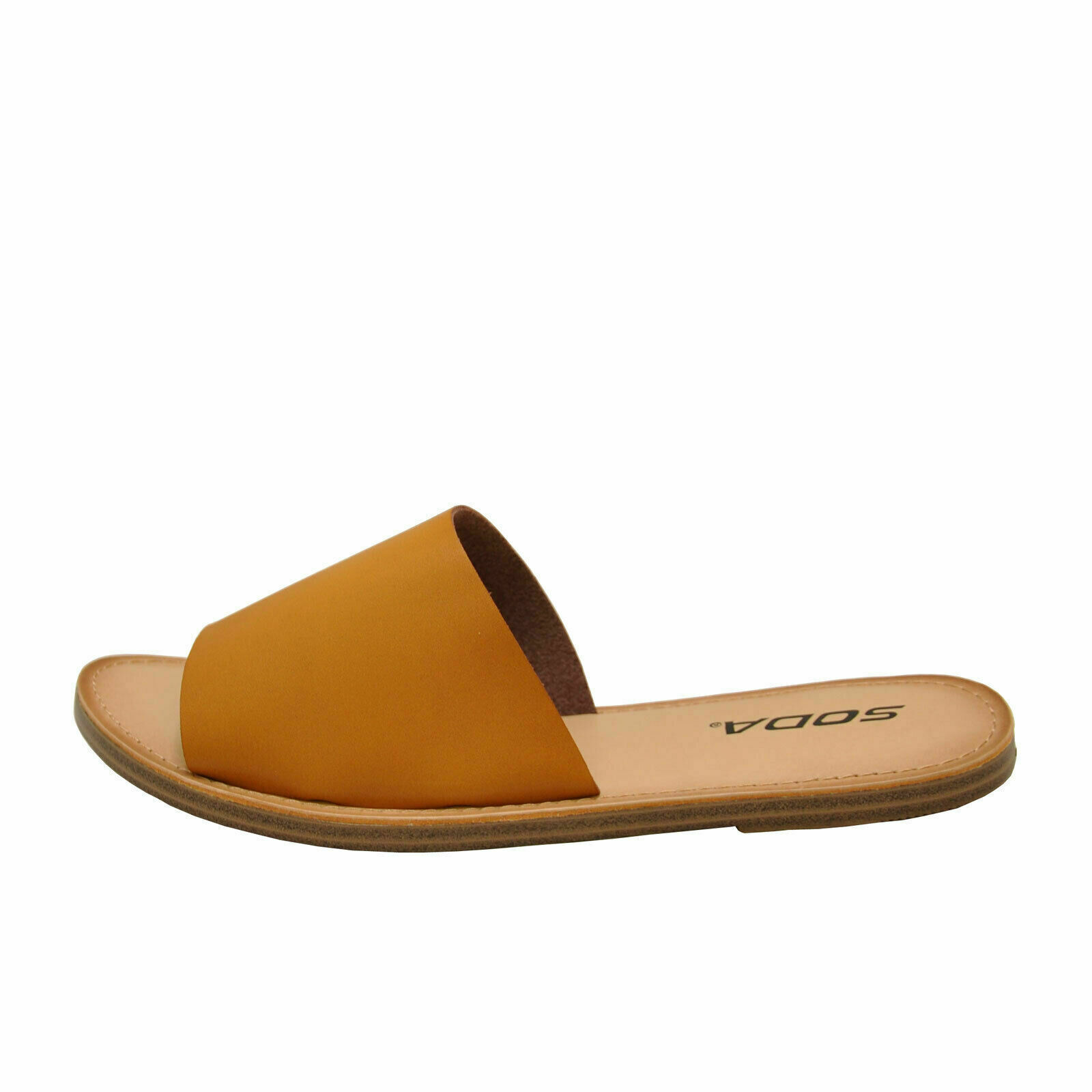 Soda SANSA-S Light Tan Women's Open Toe Slip On Slide Sandals - $24.95 - $31.95