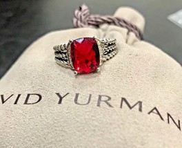 David Yurman Ring Petite Wheaton Garnet And Diamond Size - 5 - $299.99