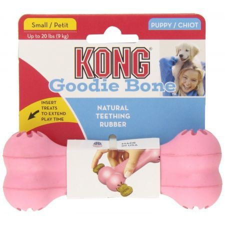 Kong Goodie Bone, Up to 20 Pounds, Natural Teething Rubber, 2 Color Varies