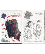 Hooded Jacket pattern, Reversible Lined, Child 3 to 12, Pitter Patterns ... - $3.98