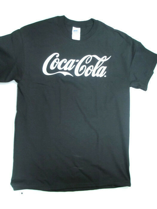 Primary image for Coca-Cola  Black T-shirt Tee with White Logo Large Brand New