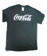 Coca-Cola  Black T-shirt Tee with White Logo Large Brand New - $10.40