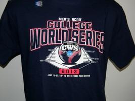 MEN'S 2013 COLLEGE WORLD SERIES BASEBALL T SHIRT MEDIUM NAVY BLUE CWS - $22.72