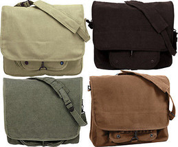 Vintage Military Paratrooper Messenger Shoulder Bag - $43.69