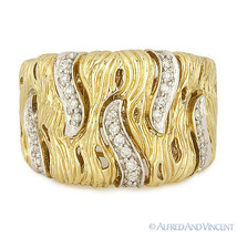 0.29ct Round Diamond Right-Hand Thick Fashion Band 14k Yellow & White Go... - €1.076,39 EUR