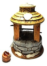 Ceramic Wishing Well-Christmas Village Accessory-Vintage--1990--George Z. Lefto - $15.50