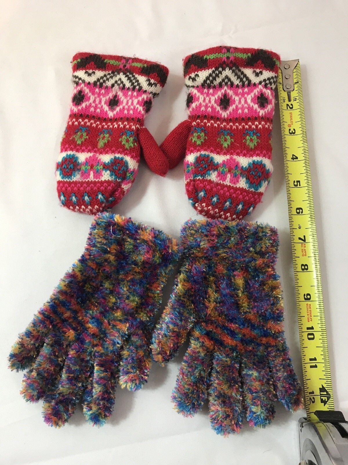 Primary image for Children's Girls Gloves and a pair of Girls Mittens - Lot of 2