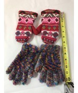 Children's Girls Gloves and a pair of Girls Mittens - Lot of 2 - £5.05 GBP