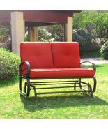 Outdoor Patio Loveseat Furniture Garden Yard Lounge Glider Bench Rocking... - $189.99