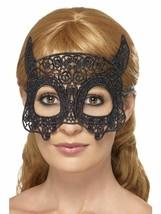 Pizzo Ricamato Filigrana Diavolo Maschera, Halloween Costume, Nero - ₹307.72 INR
