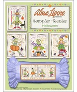 Halloween Sampler Teenies cross stitch chart Alma Lynne Originals - $7.00