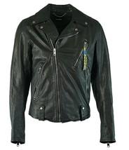Diesel Mens L-Willcox Leather Motorcycle Jacket, Black, Size XL, BNWT $798 - $399.75