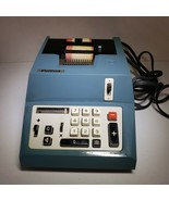 Olivetti Summa Quanta 20 Adding Machine Blue 1960's  - $34.64