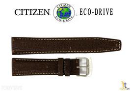 Citizen Eco-Drive AW0040-19X 20mm Braun Leder Armbanduhr Band Armband S0... - $69.32