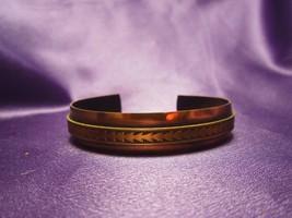 Copper Cuff Bracelet Vintage Braided Accent Southwestern Style Metal - $24.75