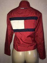Vintage 90s TOMMY Jeans  HILFIGER Big Flag Logo Nylon Crop Jacket Colorblock S image 7